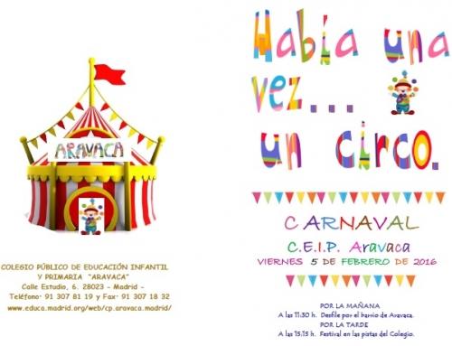 Carnaval 2016 – Había una vez un circo